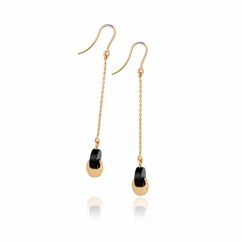 Boucles d'oreilles min&ral onyx