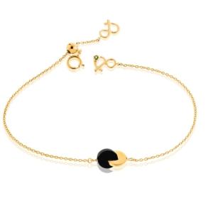 Bracelet eclipse onyx or jaune