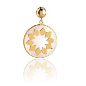 Talismans fleur bijoux mineral