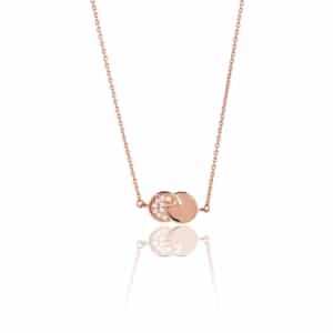 Collier Eclipse diamant or rose