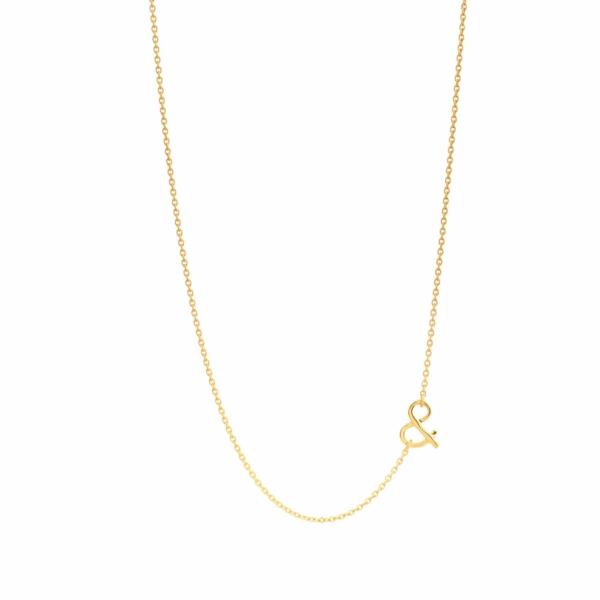 Chaîne esperluette Céleste onyx or jaune pierre naturelle mineral joaillerie éthique