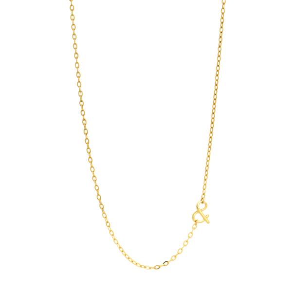 Chaîne esperluette or jaune pierre naturelle mineral joaillerie éthique