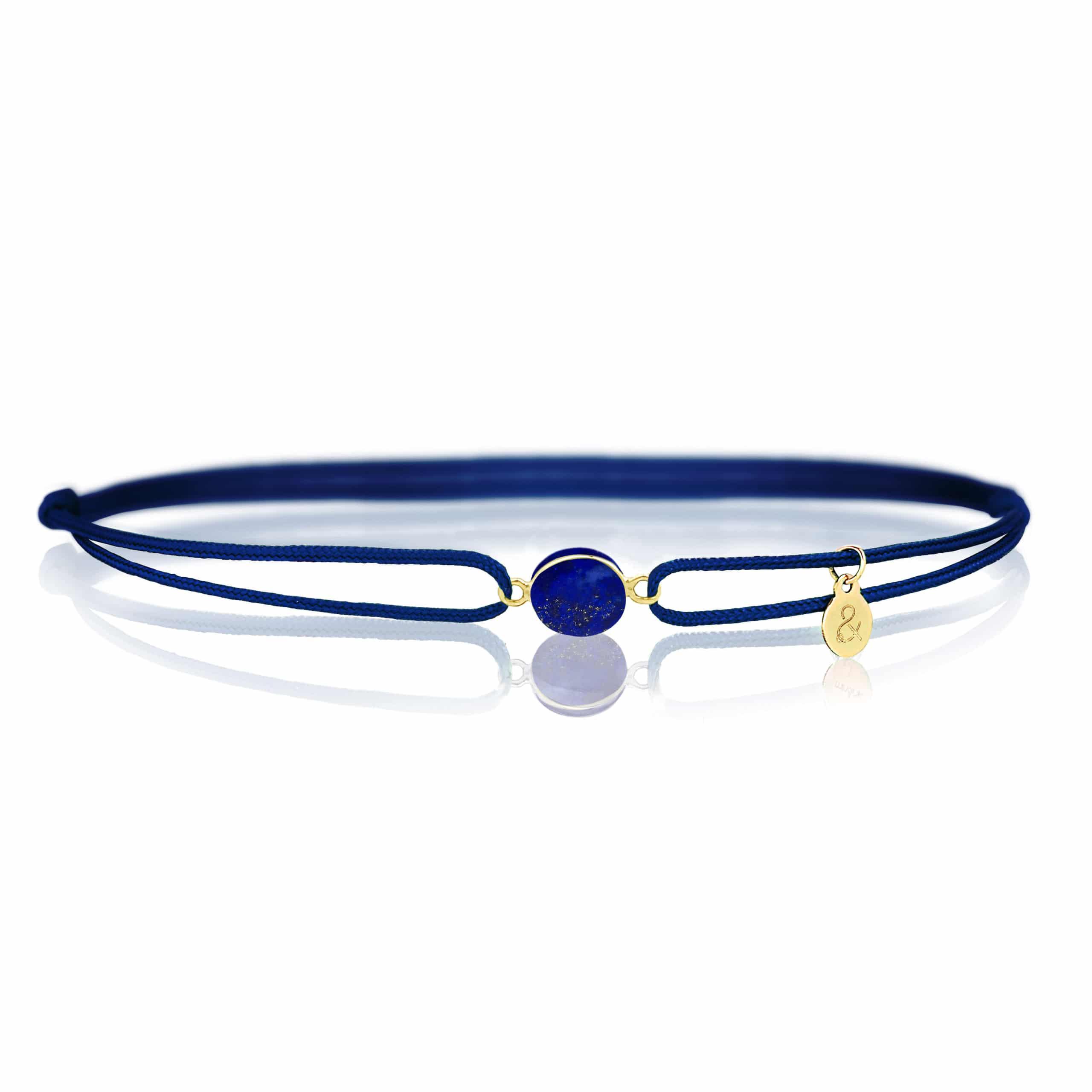 Bracelet femme Lapis-Lazuli cordon bleu