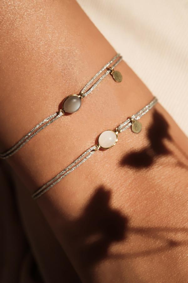 mineral joaillerie cordons bracelets lurex
