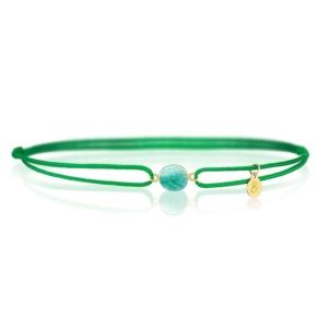 Bracelet cordon vert amazonite pierre naturelle