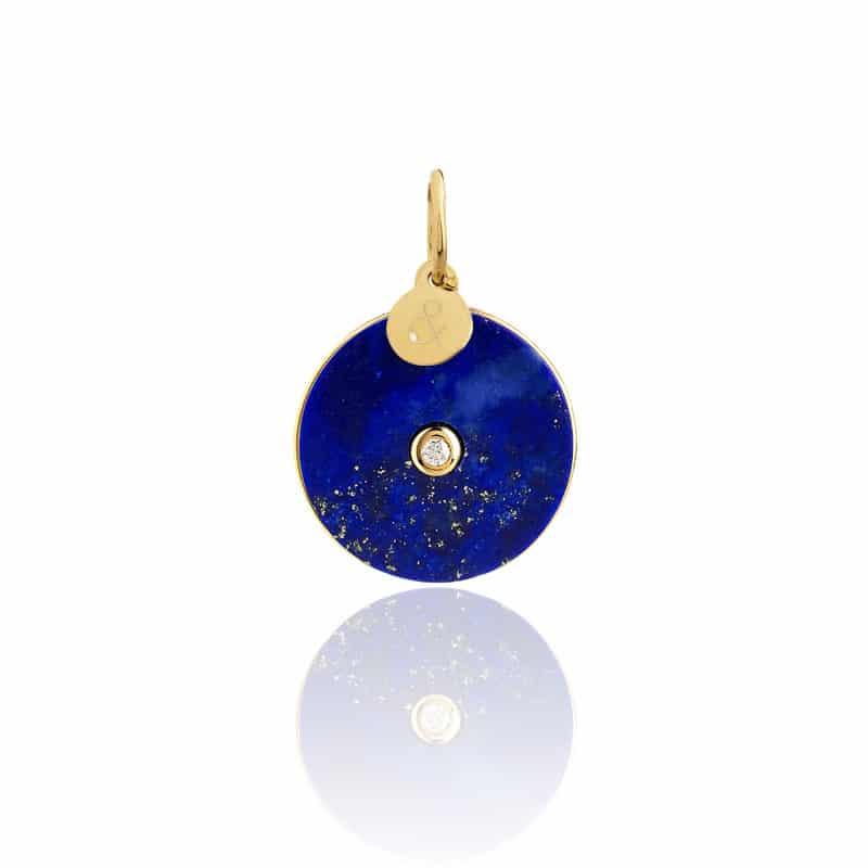 Médaille esperluette or rose diamant