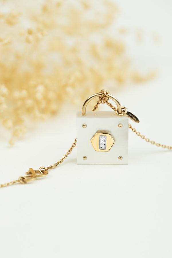 cadenas nacre diamant Mineral Joaillerie les precieuses