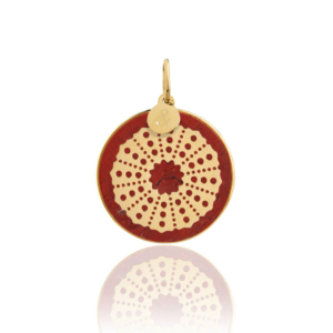 medal red jasper urchin