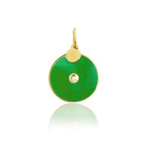 médaille pi jade verte