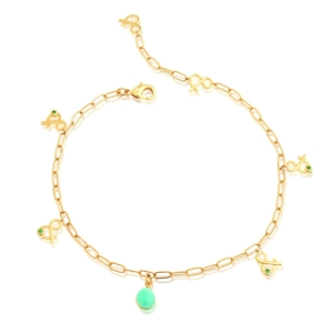 CHRYSOPRASE ANKLE CHAIN Mineral Joaillerie NATURAL STONES