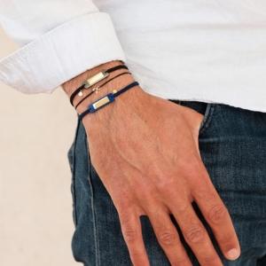 Bracelets mixtes pierres naturelles Gaspard Hematite Lapis Lazuli Pierres naturelles