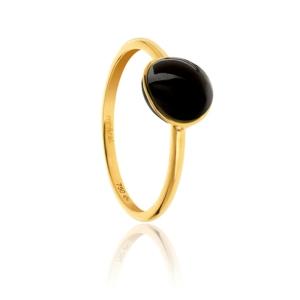 Bague Bestouan onyx pierre naturelle or jaune 18 carats recyclé mineral joaillerie femme