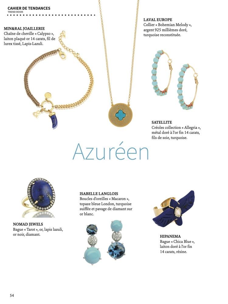 sélection bijoux azur chaine de cheville lapis lazuli Mineral Joaillerie