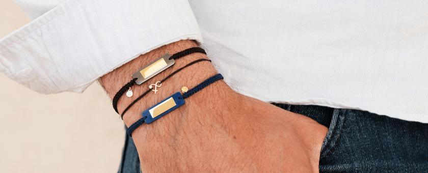 Ligne Gaspard bracelets mixtes lapis lazuli hématite pierre de lune blanche pierres naturelles or recycle Mineral Joaillerie