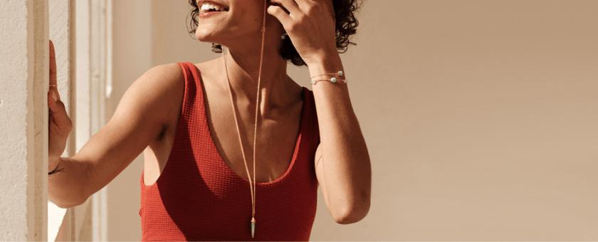 Chaîne de lunette amazonite plaqué or pierre naturelle mineral joaillerie femme bracelets Bestouan amazonite pierre de lune blanche pierres naturelles