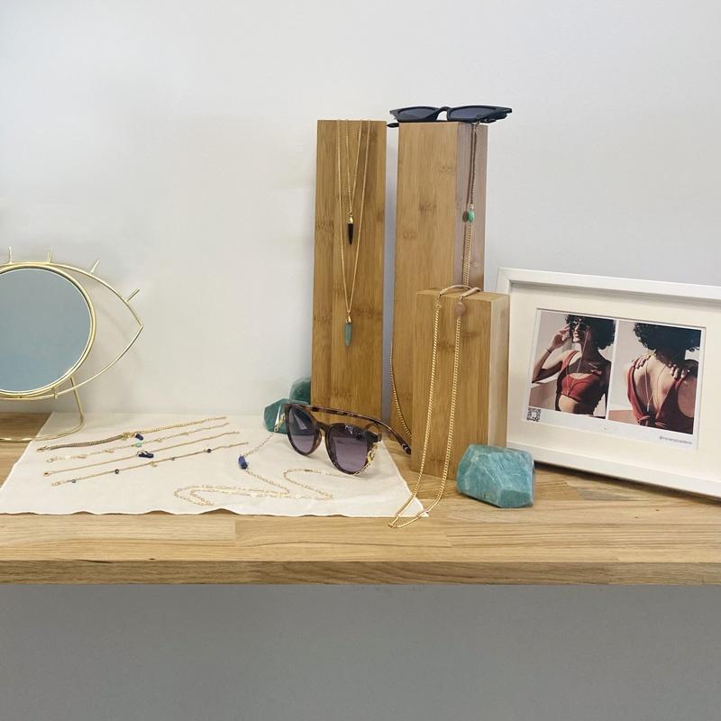 showroom bijoux accessoires mineral joaillerie chaines de lunettes