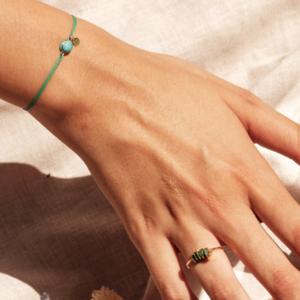 Bracelet cordon amazonite pierre naturelle