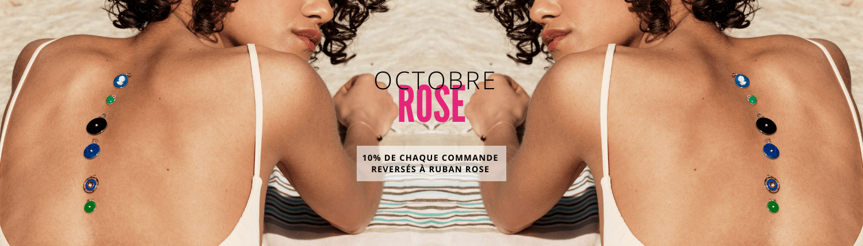 OCTOBRE ROSE - Ruban Rose Mineral Joaillerie
